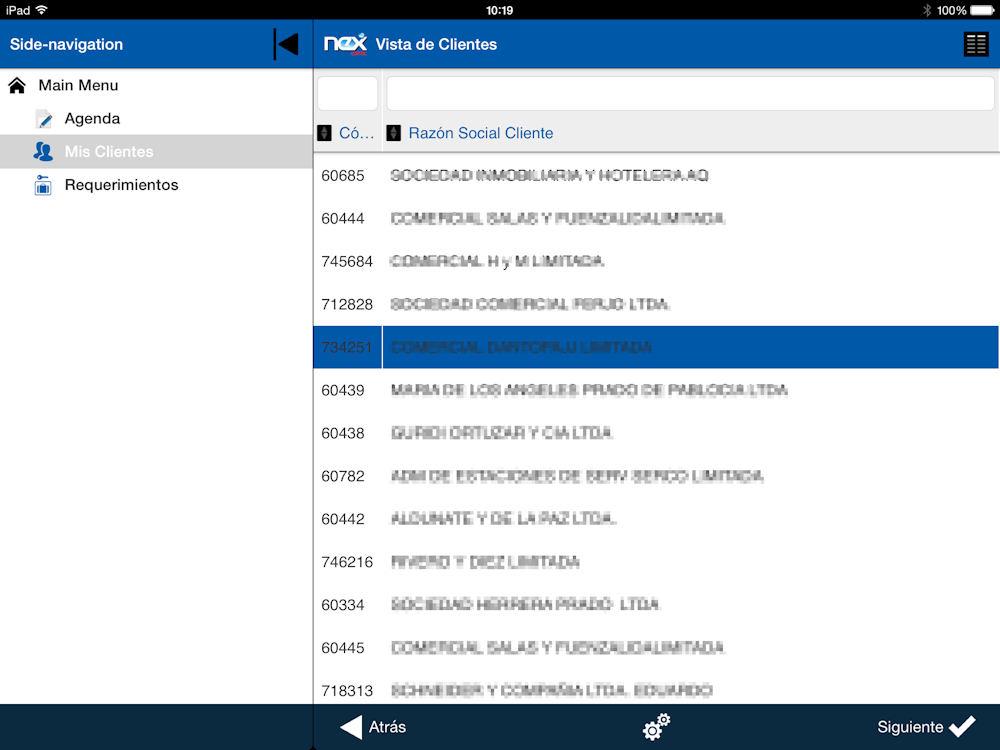 Movelet de App para Salesforce Clientes Masterdata Offline